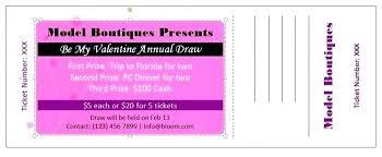 Dance Ticket Template Free Dinner Tickets Plus Printable Raffle
