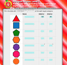 Interior Angles Chart Pin By Miss Penny Maths On Angles In Polygons Scandinavian