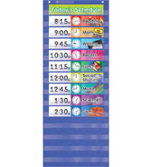 Scholastic Daily Schedule Pocket Chart Daily Schedule Pocket Chart By