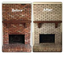 red brick fireplace ideas white painting