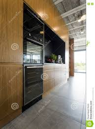 Post Industrial Kitchen Decor In A Big Citys Style Stock Image