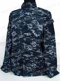 us navy bdu field uniform set digital navy blue camo