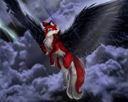 red and black wolf with wings. Beautiful Black Black And White Wolves With Wings Wild At Heart Pack Of Flowing Blood  Wolves In Red Wolf W