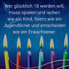 ᐅ Wer Glücklich 18 Werden Will Muss Spielen Und Lachen Wie Ein