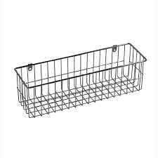 4 sided wall mount wire basket