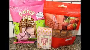 items from ireland m s percy pig british clotted cream strawberry fudge and rhubarb custard