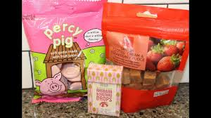 items from ireland m s percy pig british clotted cream strawberry fudge and rhubarb custard