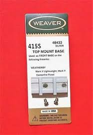 Details About Weaver Scope Base 415s Fits Weatherby Mark V Front Base Zoom On Charts