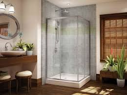 bathroom ideas corner shower design:  designs for modern modern  bathroom with corner shower only on corner shower doors glass shower solution for small