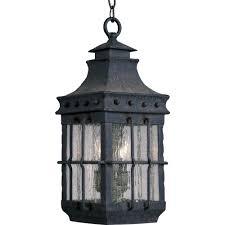 maxim lighting nantucket 3 light country forge outdoor hanging lantern
