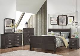 louis philippe bedroom collection. hershel louis philippe dark charcoal grey panel bedroom set collection e