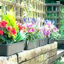 artificial hanging garden plants faux outdoor flowers fake spring collection oor baskets