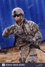 Military Police National Guard Sgt Andrew Shipley Of The 186th Military Police Company Iowa Army