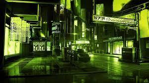 Green Anime City Wallpapers - Wallpaper ...