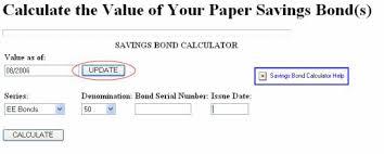 Individual Savings Bond Calculator Detailed Instructions