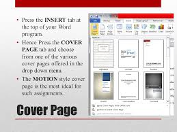 Office Cover Page Using Microsoft Office Word Assignment Layout Target Create A Cover