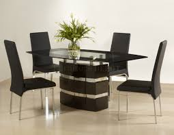 cool dining room tables. Curtain Attractive Contemporary Dining Table Sets 4 Black Finish Modern W Optional Side Chairs Of Vintage Cool Room Tables H