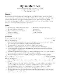 Customer Service Skills Summary Functional Resumes Resume Examples