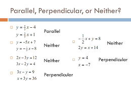 equations of parallel and perpendicular lines proofs calculator