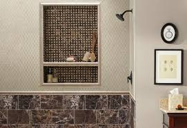 how to build and tile a shower niche