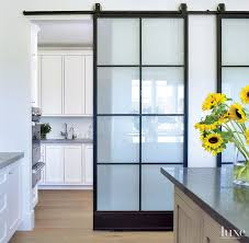 interior glass barn doors.  Glass Gorgeous Barn Door With Modern Hardware Is Located In A Kitchen The  Frosted Glass Lets Light But Gives Privacy To The Utility Kitchen And Interior Glass Barn Doors B