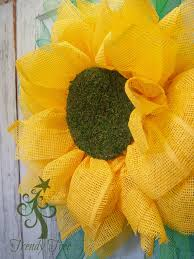 yellow paper flower moss grass center 2 trendytree
