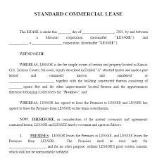 Sample Commercial Lease Agreement Printable Commercial Lease ...