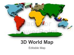 Editable World Map For Powerpoint 3d World Map Editable Powerpoint Slide