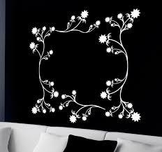 flower fl frame wall sticker