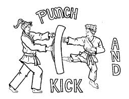 Small Picture Karate Kick and Punch Coloring Pages Batch Coloring