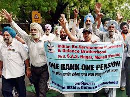 One Rank One Pension Defence Personnel Chart One Rank One Pension Latest News Videos And One Rank One