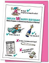 Suchergebnis Auf Amazonde Für Geburtstagskarte 18 Lustig