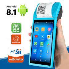 Wifi Android telefon sağlam PDA yazıcı 58mm kablosuz termal mobil POS el  terminali kamera 1D 2D QR barkod okuyucu|Scanners