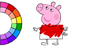 Small Picture Learn Colors for Kids and Color Peppa Pig Dress Up Coloring Pages