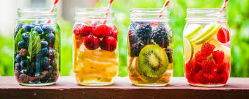5 homemade flavoured water
