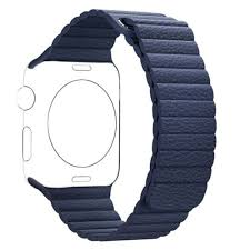 38mm genuine leather loop magnetic watch band for apple watch series 3 2 1