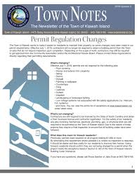 Q3 Town Notes Published Town Of Kiawah Island