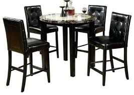 5 piece marble top dining set 5 piece dining set round faux marble table top black