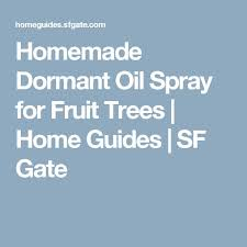 Homemade Spray Those Who Really Want To Get Their Hands Dirty Can Homemade Spray For Fruit Trees