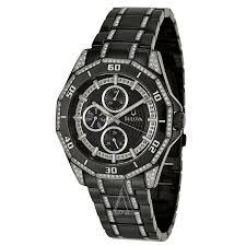 bulova crystal 98c111 men s watch watches bulova men s crystal watch