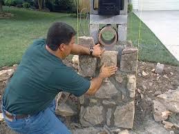 stone mailbox designs. How To Set Stones For A Stone Column Mailbox Designs