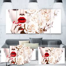 designart fashion sexy woman with flowers portrait sensual metal wall art by design art on sensual metal wall art with designart fashion sexy woman with flowers portrait sensual metal