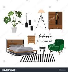 set design scandinavian bedroom. Bedroom Furniture Set. Interior Design Home Elements Collection.mood Board, Designer, Danish Set Scandinavian R