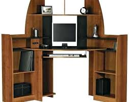 brown unfinished corner computer desk wooden with hutch and drawers also rhniftyroomcom laughingredheadmerhlaughingredheadme corner jpg