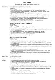 Technical Services Engineer Resume Samples Velvet Jobs