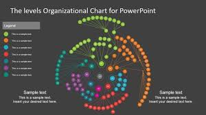 Three Levels Organizational Chart Template For Powerpoint