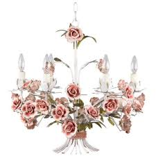 painted tole chandelier with flowers p a 6 light basket chandelier in painted