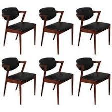 kai kristiansen model 42 teak z chairs set of six modern dining room