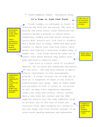 the yellow essay high school essays thesis for  persuasive essay junk food th persuasive essay junk food