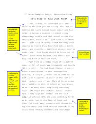 persuasive essay junk food 7th persuasive essay junk food